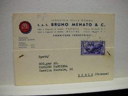 PADOVA  ---  S.A.S.  MENATO BRUNO  &  C.  -- INDUSTRIA GOMMA - Padova (Padua)