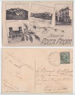 Rocca Priora - Saluti Da Rocca Priora Al Fronte Di Guerra, 1916 (inviata In Zona Di Guerra) - Italia