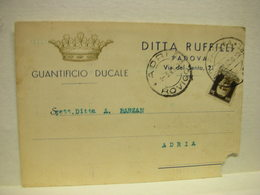 PADOVA  -- DITTA RUFFILLI -- GUANTIFICIO - Padova (Padua)