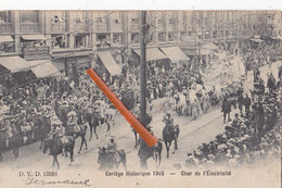 Cortège Historique 1905 - Char De L'Electricité - (certainement Pour Le 75é Anniversaire De L'indépendance à Bruxelles) - Folklore