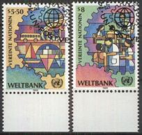 UNO WIEN 1989 Mi-Nr. 89/90 O Used - Aus Abo - Centre International De Vienne
