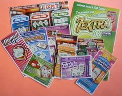 POCHETTE 7 EXTRA  - FDJ FRANCAISE DES JEUX  - AVEC 7 CARTES DIFFERENTES - Biglietti Della Lotteria