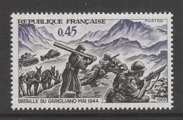 TIMBRE NEUF DE FRANCE - 25EME ANNIVERSAIRE DE LA VICTOIRE DU GARIGLIANO N° Y&T 1601 - 2. Weltkrieg