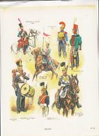20 Planches  Uniformes Des Regiments Francais De Louis XV A Nos Jours De M TOUSSAINT Des Editions Militaires Illustrees - Uniforms