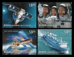 St Vincent Space Mars LAnding Ship Shenzhou China Spacecraft 4v Set MNH - Non Classificati
