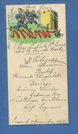 LISSES Essonne MENU  Manuscrit 1951 Banquet Sainte Cécile Et Sainte Barbe Pompier Terrasse Pierre Bouchon Champagne - Menus