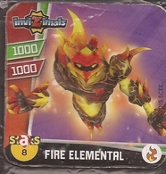 IMAN, Magnet, INVIZIMALS The Resistance, De PANINI, 8 Fire Elemental - Magneti
