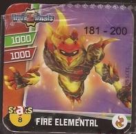 IMAN, Magnet, INVIZIMALS The Resistance, De PANINI, 8 Fire Elemental (segundo) - Magneti