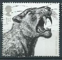 GROSSBRITANNIEN GRANDE BRETAGNE GB 2006 ICE AGE MAMMALS: SABRE-TOOTH CAT 1ST SG 2615 SC 2359 MI 2391 YV 2737 - Used Stamps