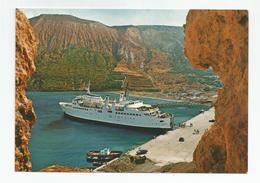 """Sicilia Sicile Isole Eolie  Paquebot Bateau La Nave Traghetto """" Caravaggio """" Nel Porto Levante - Dampfer"""