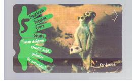 TURCHIA  (TURKEY)  -  2001  ANIMALS: SURICATA SURICATTA     - USED - RIF. 10769 - Turquia