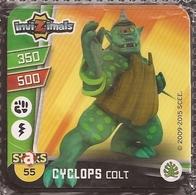 IMAN, Magnet, INVIZIMALS The Resistance, De PANINI, 55 Cyclops Colt - Magnets