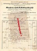 79- SAINT MAIXENT- RARE FACTURE ANDRE CHARRUAUD- QUINQUINA RHUM ST MAIXENT-ROCHEFORT- M. EPHRUSSI PARIS-LESUEUR-1913 - Food