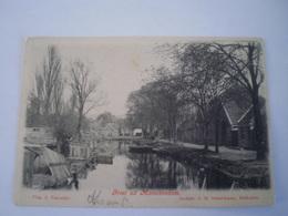 Monnikendam (NH) Onbekend Waar ? - Groet Uit  // Gelopen 1905 Met GR //uitg.Schalenkamp - Nederland