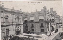 Cpa,mexique,mexico,el Jockey Club,attelage,1900,banque ,banqueros Et Rue Des Commerces,rare - Mexique
