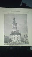 Affiche (gravure) - Ancienne Maison De Ville De BETHUNE - La Tour Du Beffroi - Afiches