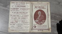 Partition Reviens Valse Crée Par Fragson Et Christiné - Partitions Musicales Anciennes