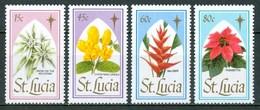 1988 St.Lucia Natale Christmas Noel Fiori Flowers Fleurs MNH** Ye21 - St.Lucia (1979-...)