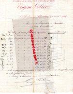 03- MOULINS SUR ALLIER - RARE LETTRE MANUSCRITE SIGNEE EUGENE CELIER-CIMENTS TUYAUX EN GRES- 1884-TUILERIE MONTCHANIN - 1800 – 1899