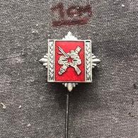 Badge (Pin) ZN006823 - Military (Army) Academy Yugoslavia - Militaria