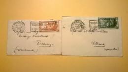 LOTTO INTERESSANTE STORIA POSTALE BUSTE FORMATO PICCOLO BIGLIETTO DA VISITA AUGURALE ANNUNCIALI - 1946-.. République
