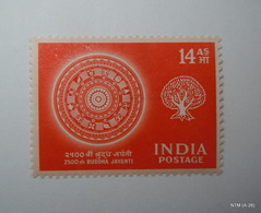 India1956 2500th Birth Aniversary Of Buddha 14 As. StampMH SG 373 - 1950-59 République