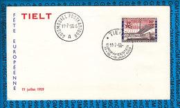 Belgie Cover - Europafeesten Tielt 1959 - FDC