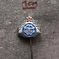 Badge (Pin) ZN006829 - Military (Army) Air-Defense School Yugoslavia - Militaria
