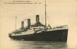 160418 MARINE PAQUEBOT - Le Paquebot GALLIA De La Compagnie De Navigation Sud Atlantique - Paquebote