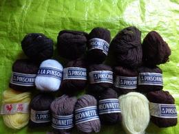 Lot De  15 Pelotes De Laine - A La Pinsonnette- Au Coq - Wool