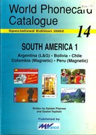 SOUTH AMERICA CATALOGUE VOL.1-ARGENTINA-BOLIVIA-CHILE-COLOMBIA-PERU ISSUED BY MvCARDS 2002 READ DESCRIPTION CAREFULLY!!! - Phonecards