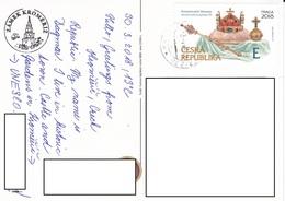 22A : Czech Republic Crown Stamp Used Zamek Kromeriz Postcard - Czech Republic