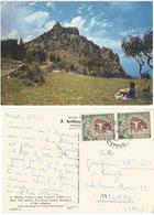 Cyprus Kibris St. Hilarion Castle AirmailPPC Nicosia 3jun1960 To Italy With Copper Mine M10 Pair - Cyprus