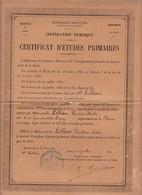 Certificat D'Études Primaire 1891 Paris - Diploma & School Reports