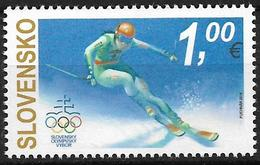 2018 Slowakei Slovensko  Mi. 836 **MNH .Olympische Winterspiele, Pyeongchang. - Eslovaquia