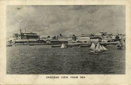 Tanzania, ZANZIBAR, View From The Sea (1940s) Postcard - Tanzania