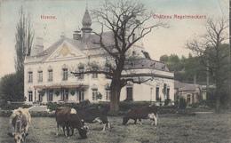 Henne - Château Nagelmackers (belle Animation, Colorisée, Vaches, Tondeuses D'époque :o) 1909 - Chaudfontaine