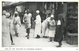 Tanzania, ZANZIBAR, One Of The Bazaars In Zanzibar Market (1930s) Postcard - Tanzania