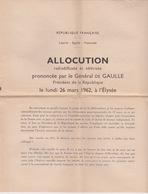 Algérie, Référendum , MARS 1962,  Documents, Voir Descriptif - Documents