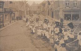 Ciney - Carte Photo Top Animation Procession Du 15 Août 1909 (Photo Vandeghinste) - Ciney