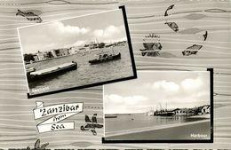 Tanzania, ZANZIBAR, Seafront, Harbour (1950s) RPPC - Tanzania