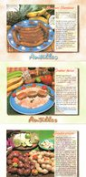 Recette De Cuisine : Lot De 3 Cartes De Recettes Des Antilles   : Editions As De Coeur - Küchenrezepte