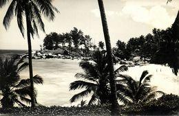 Seychelles, MAHE, Carana Beach (1950s) RPPC - Seychelles