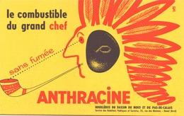 """Buvard """" Anthracine """" Le Combustible Du Grand Chef ( Rousseurs, 21 X 13,5 Cm ) - Blotters"""
