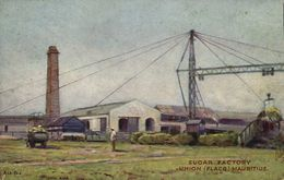 Mauritius Maurice, UNION FLACQ, Sugar Factory (1910s) Postcard - Mauritius