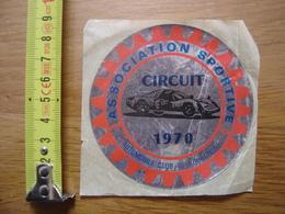 Autocollant Sticker 1970 Circuit AUTOMOBILE CLUB BOURGOGNE ASSOCIATION SPORTIVE - Autocollants