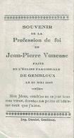 Souvenir De La Profession De Foi De Jean-Pierre VANESSE En L'Eglise Paroissiale De GEMBLOUX Le 20 Mai 1945 - Communion