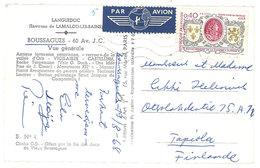 Cpsm Boussagues, Vue Générale ( Affranchissement Par Avion ) - France