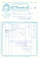 Factuur Facture  - Rubans Textiel - Ets Vranckx & Cie - Bruxelles 1968 - Textile & Vestimentaire