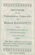 Souvenir De La Communion Solennelle De Robert DANGOTTE En L'Eglise Paroissiale De GEMBLOUX Le 20 Mai 1945 - Communion